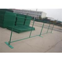 Buy cheap Movable PVC / Powder Coated Galvanized Temporary Fence 6FT X10FT from wholesalers