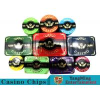 New Design Bronzing Engraved Poker Set With Special Acrylic Materials
