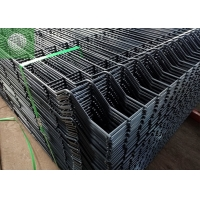 Buy cheap Black Grey 4.0mm Steel Garden Fence Panels , 3D Galvanized Welded Wire Mesh Fence from wholesalers
