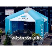 Buy cheap 8m Blue Printing Vendor Inflatable Advertising Tent for Promotion from wholesalers