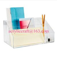 Buy cheap Factory acrylic office suppliers clear acrylic desktop organizer from wholesalers