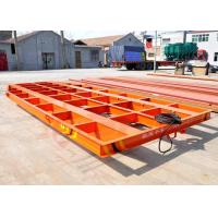 Buy cheap 5T Towed cable power steel structure low bed rail cart for blasting room from wholesalers