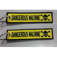 Dangerous Machine Custom Embroidery Keychains for Keys