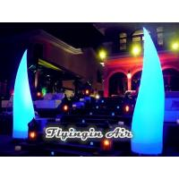 Buy cheap 3m High Beautiful Inflatable Light Cone for Wedding Night and Stage product