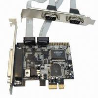 Buy cheap PCIe 1x Express 2 Serial + 1 Parallel Ports Controller Card Adapter with MCS9901 Chipset from wholesalers