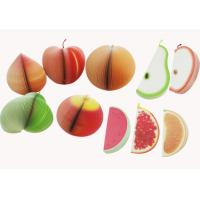 Buy cheap OEM Fruit 150sheets 80GSM / 100GSM offset paper Custom Sticky Notes from wholesalers