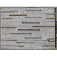 Buy cheap White Quartzite Rusty Slate Waterfall Shape Culture Stone,Natural Retaining Wall Stone Panel from wholesalers