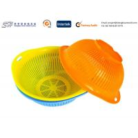 Buy cheap Eco Friendly Plastic Kitchenware Small Round Plastic Basket for vegetable , yellow color from wholesalers