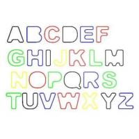 Buy cheap Rainbow Letter / Alphabet Shape Rubber Silicone Elastic Silly Band For Hair Bands from wholesalers