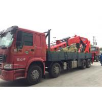 Buy cheap Telescopic 100T Truck Mounted Boom Crane , Lorry Mounted Crane In Red Color from wholesalers