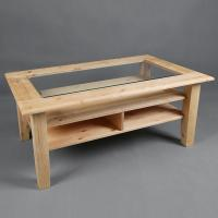 Buy cheap Solid wood coffee table with glass good quality from wholesalers
