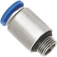 Buy cheap Nickel Planting Pneumatic Brass Push To Connect Fittings With Male Straight Run Body from wholesalers