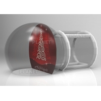 Buy cheap 3M Outdoor Winter Party Custom Backdrop Inflatable Christmas Photo Snow Globes With Tunnel from wholesalers