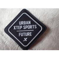 Buy cheap Import fabric with sewing on silicone rubber logo patch on outdoor wear from wholesalers