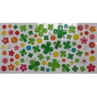 China Luck Self-adhesive Puffy Stickers for Kids with 3D Clear PVC on sale