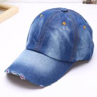 Buy cheap Sport Casual Denim Unisex Baseball Caps Embroidery Patch Logo Jean Cotton Material from wholesalers