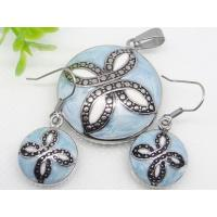 Buy cheap Stainless Steel Light Blue Enamel Jewelry Sets 1900313 from wholesalers