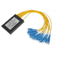 Buy cheap 1*32 And 2*32 Optical Fiber Couplers With 0.9mm 2.0mm 3.0mm Cable , Multimode Fiber Splitter from wholesalers