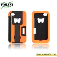 Buy cheap PC+silicone case for iphone4/4s, with bottle opener style product