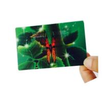 Buy cheap 0.45mm Custom Lenticular Business Cards UV offset CMYK Printing FAMA Cerification product