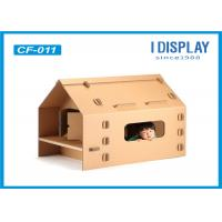 Buy cheap Custom Corrugated Kids Cardboard House , Large  Cardboard Playhouse For Children from wholesalers