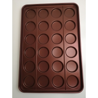 Buy cheap 3.5 24 Links Burger Bun Baking Tray Reusable Silicone Coated from wholesalers