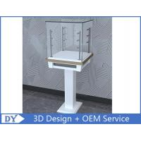 Buy cheap Free 3D design modern fashion wooden tempered glass display cabinets with 4 pcs led spot lights from wholesalers