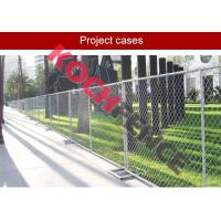 Buy cheap Galvanized Temporary Chain Link Fence , Welded Wire Fence For Construction Site from wholesalers