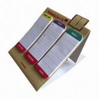 Buy cheap Sticky notepads, can stand, glue at top with 3 parts  from wholesalers