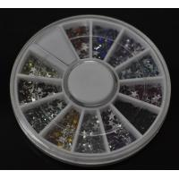 Buy cheap Pentagram-High Quality Colors Nail Art Rhinestones Glitters Gems Nail Art Decoration Wheel from wholesalers