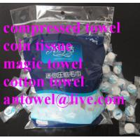Buy cheap compressed towel magic coin tissue product
