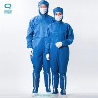 Buy cheap Exquisite packaging's blue Antistatic ESD fabic clothing simade of 100% polyester filament fiber + conductive fiber from wholesalers