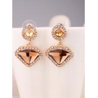 Buy cheap 2015  Fashion Jewelry Big Discount on Sales Promotion Cute Triangle Big Size Earrings Golden Stud Earrings from wholesalers