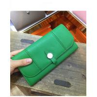 Buy cheap Hot sell nice quality green women designer purse natural goatskin purse passport purse brand flat purse LR-P01 from wholesalers