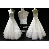 Buy cheap Low Shoulder High Collar Applique lace Wedding Dress Bridal Gown with Zipper BYB-14595 from wholesalers