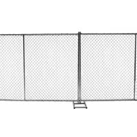 Buy cheap Temporary Construction Fence  ASTM A392-06 Standard 8ft x 12ft  1½(38mm)  x 1.6mm wall thick mesh 60mm*60mm from wholesalers