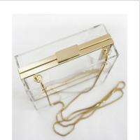 Buy cheap Lucite acrylic clutch box / clear acrylic storage containers For Girls from wholesalers