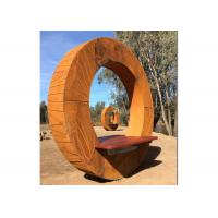 Buy cheap Forging Bench Design Corten Garden Sculpture For Decoration , ODM Available from wholesalers