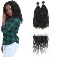 Buy cheap 9A Thick Healthy Pre Plucked 360 Lace Frontal 2 Bundles No Synthetic Hair from wholesalers