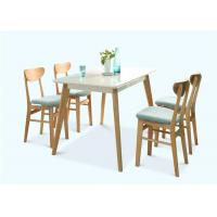 Buy cheap 4 Seats Light Oak Dining Table , Small White Wooden Hardwood Dining Table Set from wholesalers