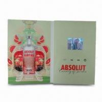 Buy cheap Video Greeting Card, Made of Paper, Customized Designs are Accepted, with TFT LCD Display from wholesalers