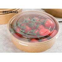 Buy cheap 12oz 400ml Single Pe Coating Salad Kraft Paper Food Bowl With Lid from wholesalers