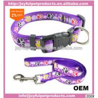 Buy cheap Custom pattern dog accessories nylon print pet collar and leash no minimum order quantity from wholesalers