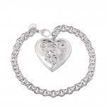 Buy cheap Stylish Wholesale Nickel&lead Free Women's Heart Shaped Pendant Charm Bracelet from wholesalers
