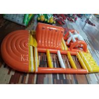 Buy cheap Water / Pool Airtight Floating Inflatable Water Slide 0.65mm PVC Tarpaulin from Wholesalers