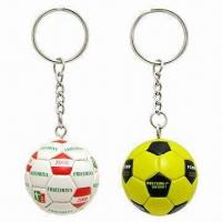 Buy cheap Synthetic Leather Football Keychains from wholesalers