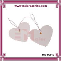 Buy cheap 2016 hot heart shape custom paper tags hand tag with strings ME-TG019 from wholesalers