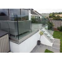 Buy cheap Outdoor Aluminum U Channel Glass Railing For Stair Exterior Glass Balcony Balustrade from wholesalers