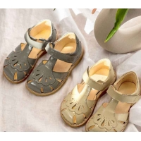 Buy cheap Summer Kids Sandals Shoes Girls Leather Sandals Flat Close Toe Dress Shoes from wholesalers
