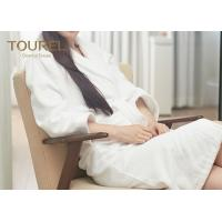 Buy cheap Kimono Waffle Weave Luxury Towelling Bathrobe With White Jacquard from wholesalers